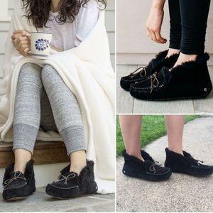 UGG🍂🍁Alena black Slippers Sz 6